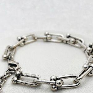 Sterling Silver U Link Bracelet